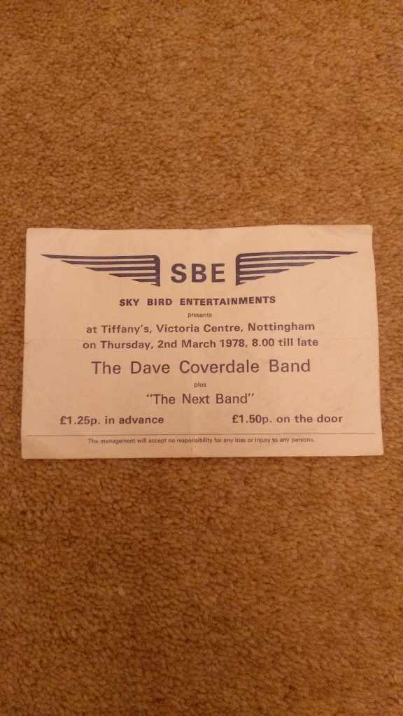 The original ticket for the first show, that was made valid for the Lincoln Polytechnic...:)